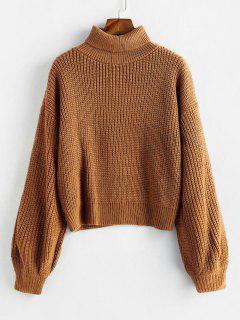 Rollkragenpullover Mit Langen Ärmeln, Chunky Sweater - Dunkle Goldrute