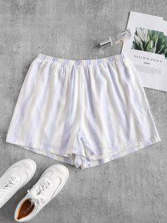 Pull On Striped High Waisted Shorts - Multi M