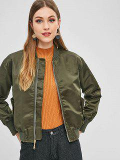 Cinched Bomber Jacket - Army Green M