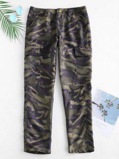 Camo Print Cargo Pants - Acu Camouflage M