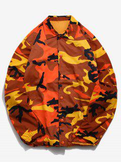 Veste Coupe-Vent Camo Snap Button - Orange Tigre L