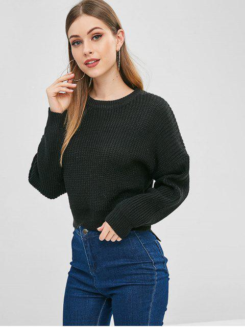 sale Basic Sweater - BLACK ONE SIZE Mobile