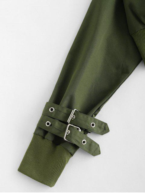 latest Raglan Sleeve Pocket Crop Jacket - ARMY GREEN L Mobile
