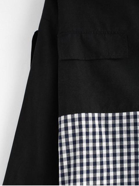 Chemise Boutonnée de Grande Taille en Vichy - Noir 1X Mobile