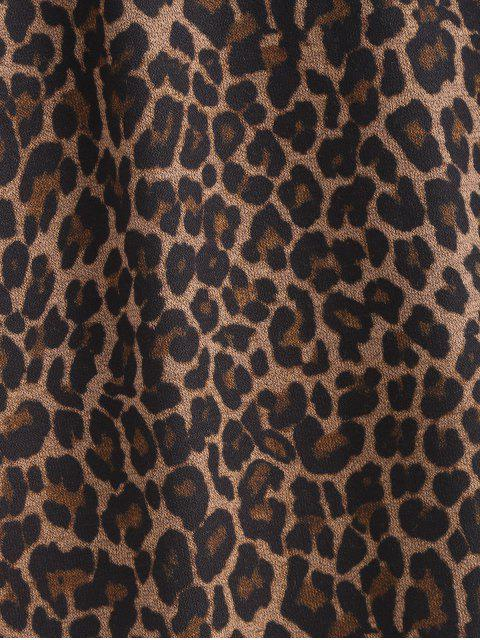 best Mesh Panel Leopard Print Cami Top - LEOPARD ONE SIZE Mobile