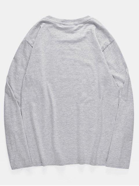 圓領八爪魚印花套衫T卹 - 灰色雲彩 S Mobile