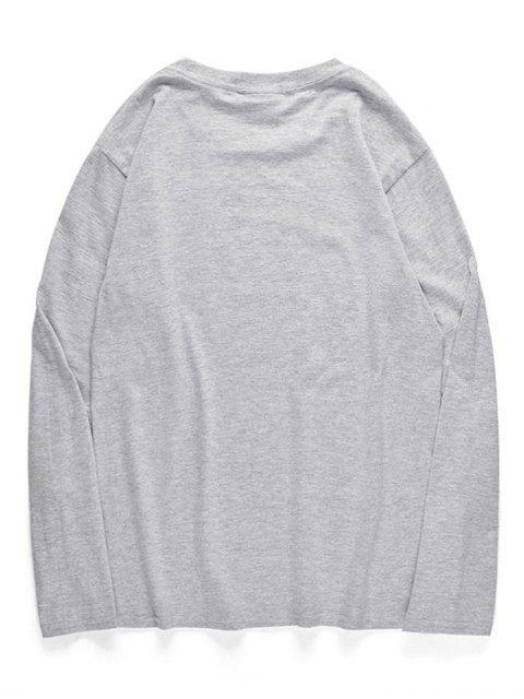 Pulpo cuello redondo camiseta estampada - Nube Gris XS Mobile