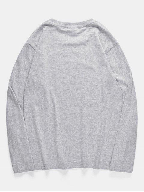 T-shirt à motif de poulpe et à col rond - Nuage Gris S Mobile
