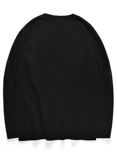 T-shirt à manches longues à motif poulpe - Noir M Mobile