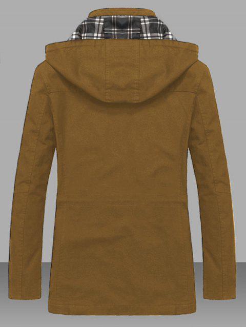Veste Taille à Cordon avec Poche en Couleur Unie - Kaki L Mobile