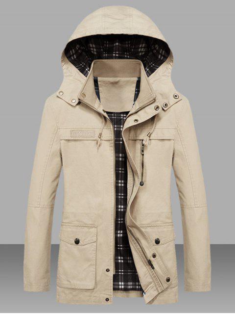 Veste Taille à Cordon avec Poche en Couleur Unie - Sable L Mobile
