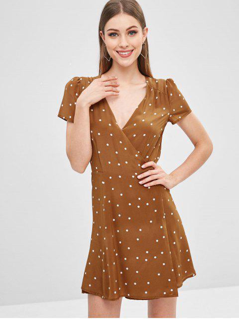 Mini robe cache-coeur - Caramel L Mobile