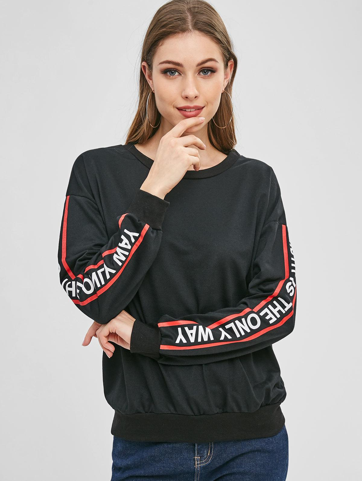 Pullover Graphic Sleeve Athletic Sweatshirt фото