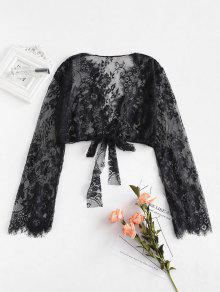 شير الرباط الزهور ربط المحاصيل الأعلى الملابس الداخلية - أسود L
