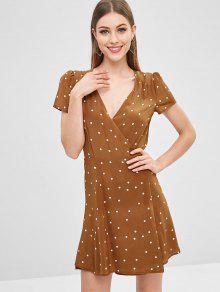 فستان قصير من Drap - الكراميل L