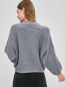 ae9aad11e98 47% OFF  2019 Oversized V Neck Sweater In GRAY