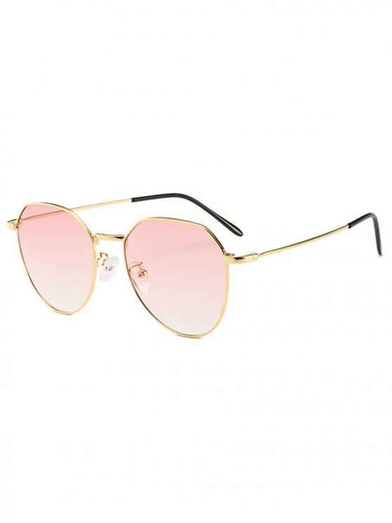 online Metal Frame Irregular Geometry Design Sunglasses - PINK