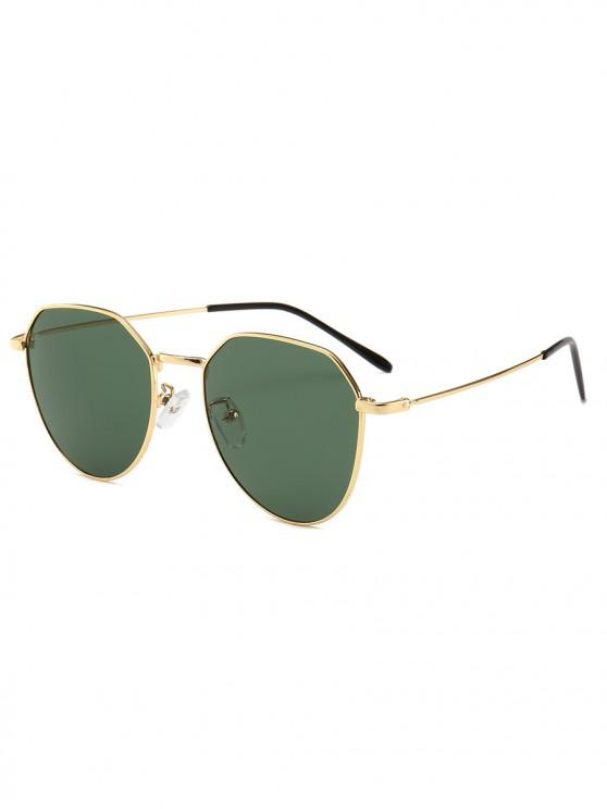shop Metal Frame Irregular Geometry Design Sunglasses - DARK GREEN