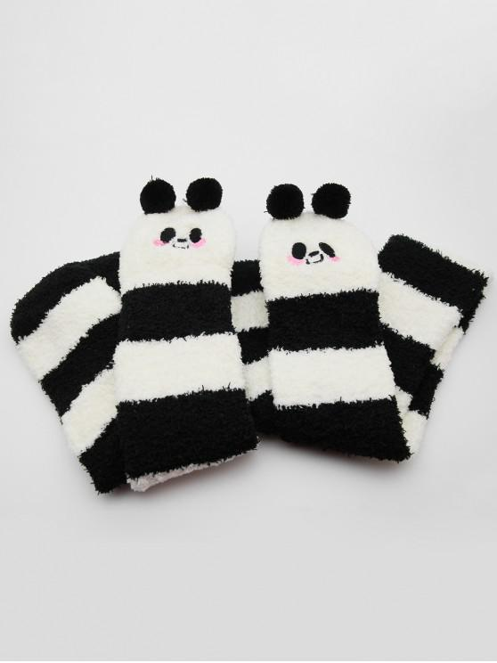 outfit Cute Animal Fuzzy Floor Socks - BLACK