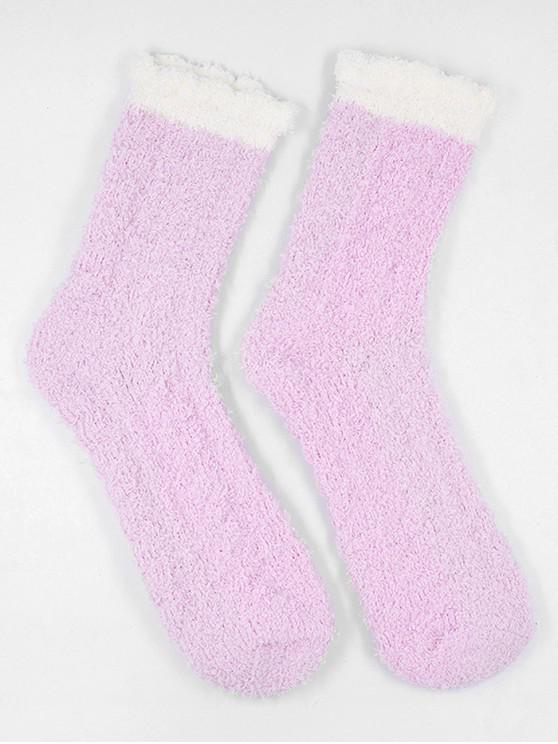 best Winter Fuzzy Simple House Socks - HOT PINK