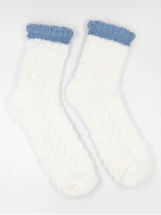 Chaussettes d'Hiver Simple Fourrées - Blanc