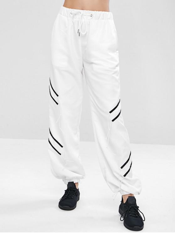 Calças de suor Jogger com cintura de cordão - Branco M