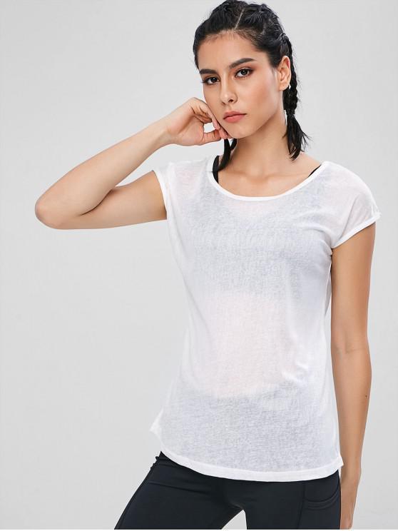 Haut de sport semi-transparent - Blanc XL