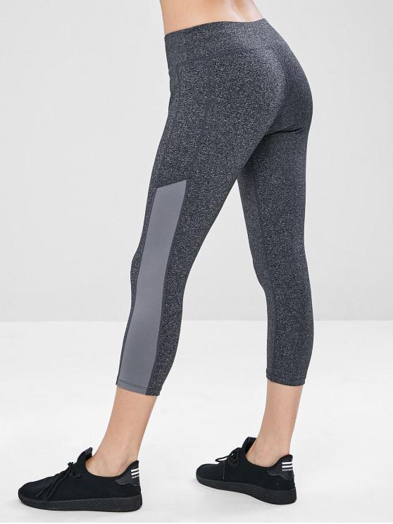 shops Capri Pocket Yoga Gym Leggings - GRAY M