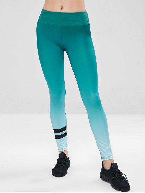 Workout-Ombre-Yoga-Gymnastikgamaschen - Grün XL