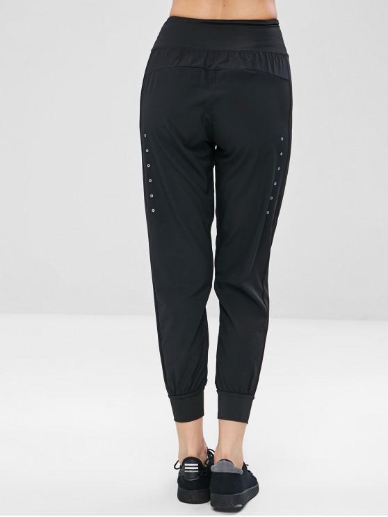 sale Light Joggers Track Pants - BLACK M