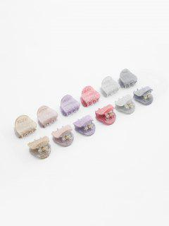 Multifunctional 12 Pcs Hair Claw Clip - Multi-a