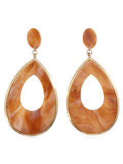 Water Drop Geometry Decoration Earrings - Tiger Orange