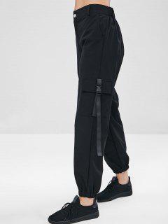 ZAFUL Pantalon Cargo Zippé - Noir M