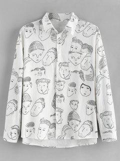 Graphic Print Long Sleeves Shirt - White L