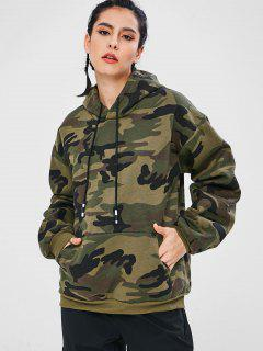 Camo Print Pouch Pocket Oversized Hoodie - Acu Camouflage M