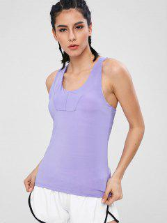 Sports Tank Top With Shelf Bra - Purple Mimosa Xl