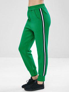 ZAFUL Contrast Pocket Jogger Gym Pants - Clover Green L