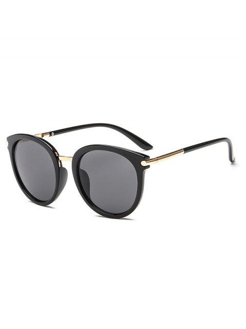 trendy Round European American Young Style Sunglasses - BLACK  Mobile