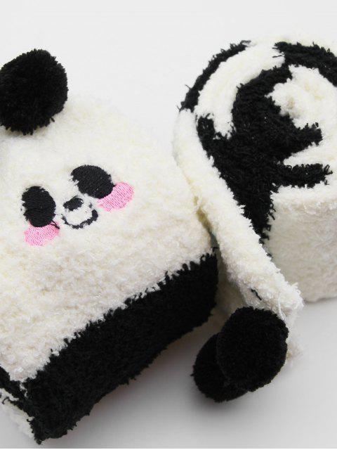 outfit Cute Animal Fuzzy Floor Socks - BLACK  Mobile