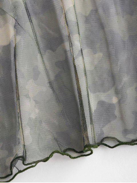 women's Camo Plus Size Mesh Cover Up Tee - MULTI 3X Mobile