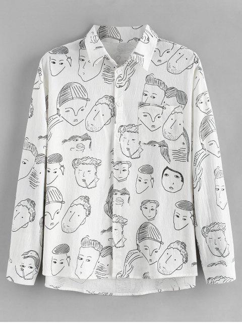Chemise à manches longues à imprimé graphique - Blanc L Mobile