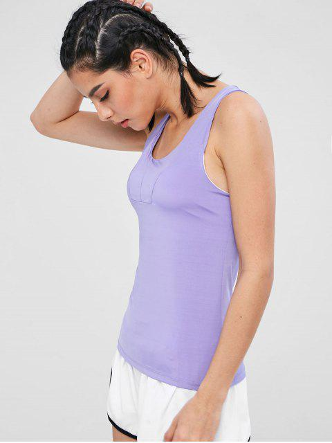 new Sports Tank Top With Shelf Bra - PURPLE MIMOSA XL Mobile