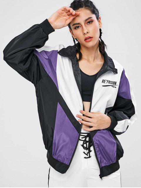 outfit Zip Up Swishy Running Track Jacket - MULTI L Mobile
