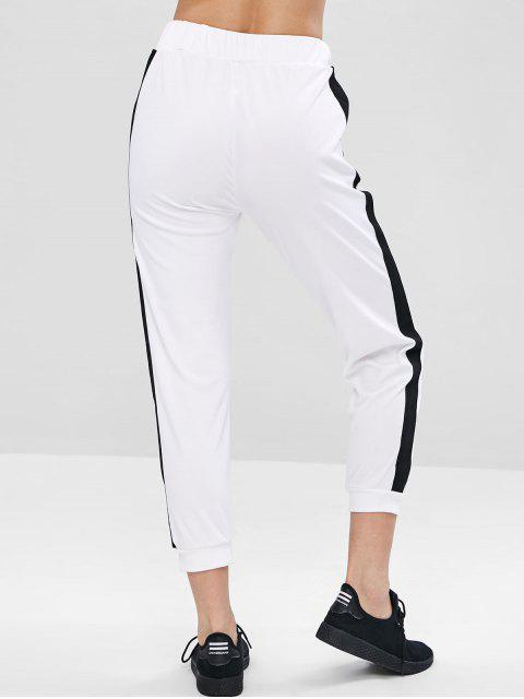 Joggerhose mit Schnürung im Taschenformat - Weiß L Mobile