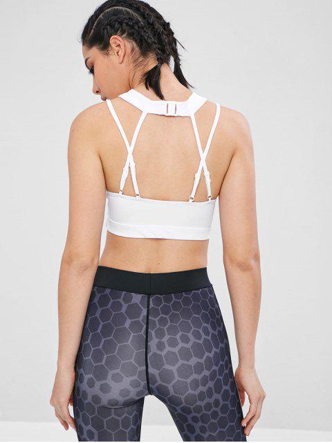 Geschirr ausgeschnitten Gym Yoga-BH - Weiß M Mobile