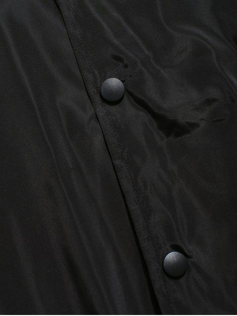 Veste Coupe Vent en Couleur Unie avec Bouton-Pression - Noir 3XL Mobile