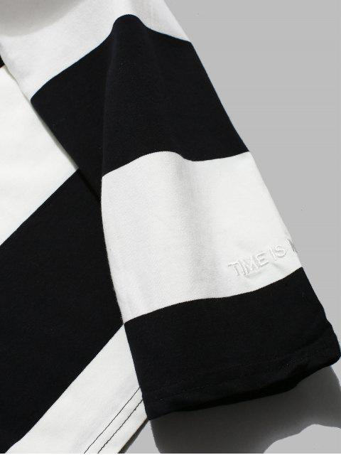 online Contrast Striped Long Sleeve T-shirt - WHITE XL Mobile