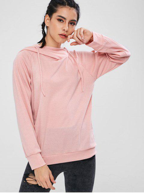 new ZAFUL Knitted Pullover Raglan Sleeve Hoodie - LIGHT PINK M Mobile
