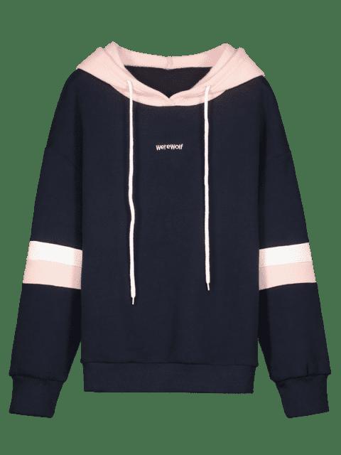 ZAFUL Color Block Fleece-Kordelzug Hoodie - Multi M Mobile