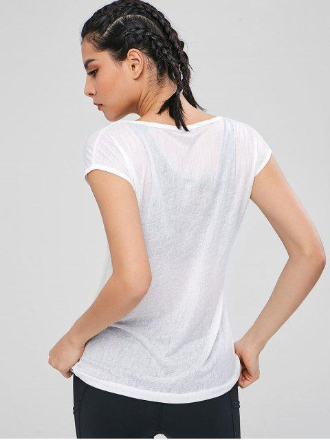 Haut de Sport Semi-Transparent - Blanc XL Mobile